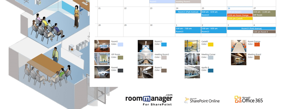 Conference room scheduling software sharepoint 365 for Office 365 sharepoint helpdesk template