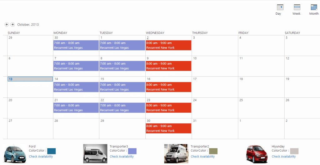 Car Manager for SharePoint lets you easily book a car from the fleet ...