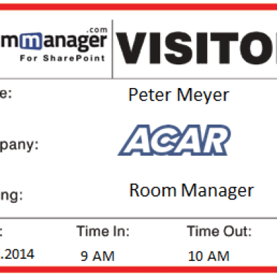 Room Manager Visitor pass