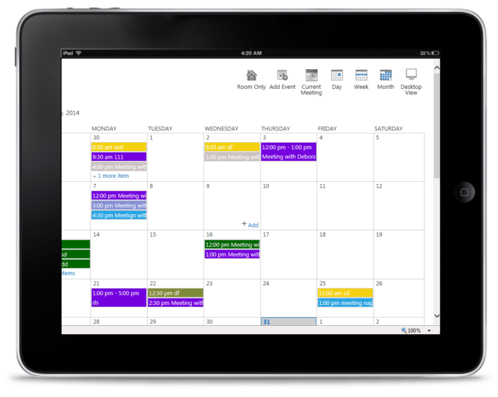 Conference Room Software Outlook