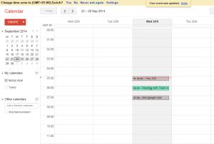 Google Event in Calendar