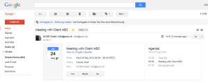 Invitation to Gmail Account of external user