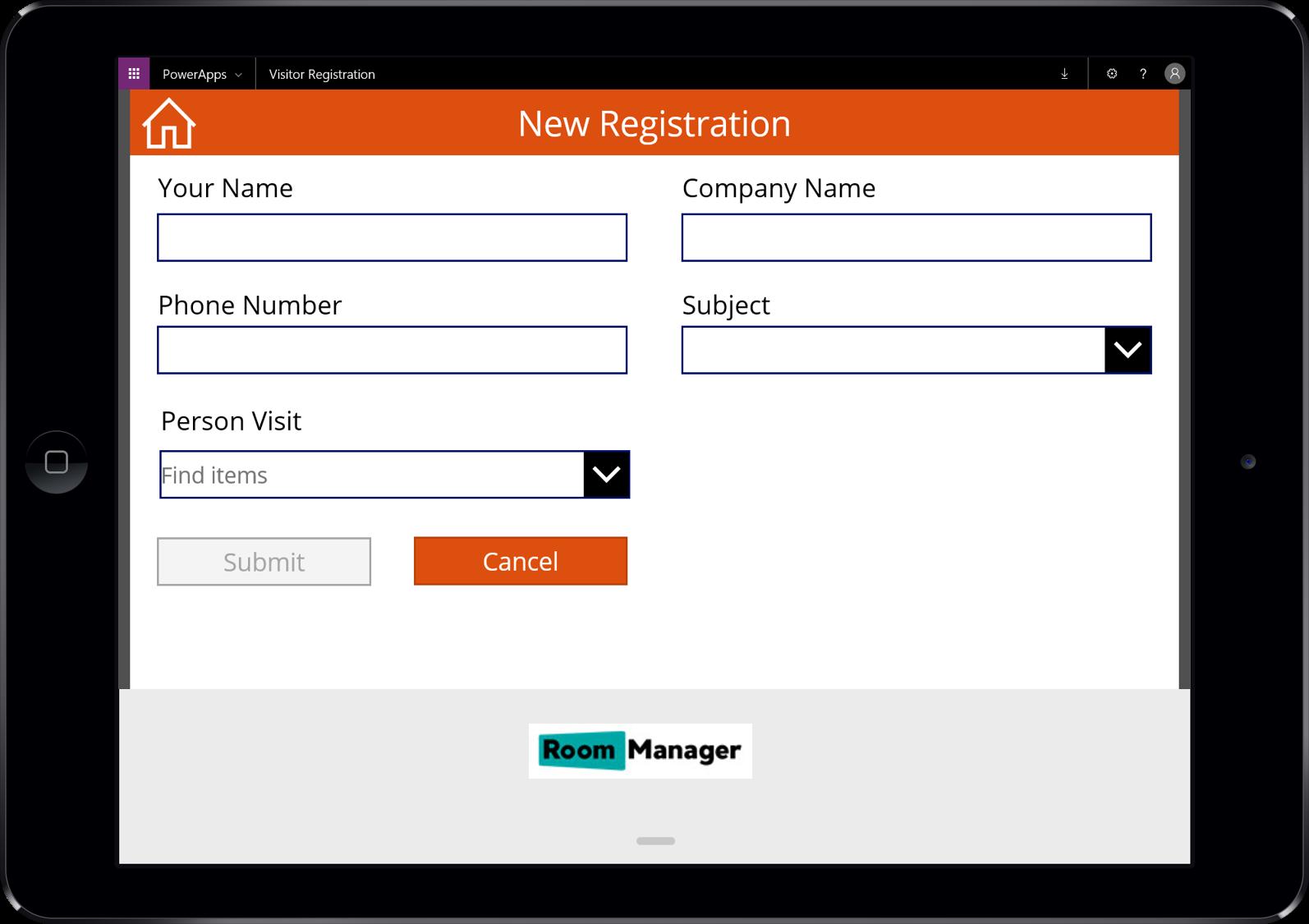 Visitor Registration App for Office 365   Room Manager