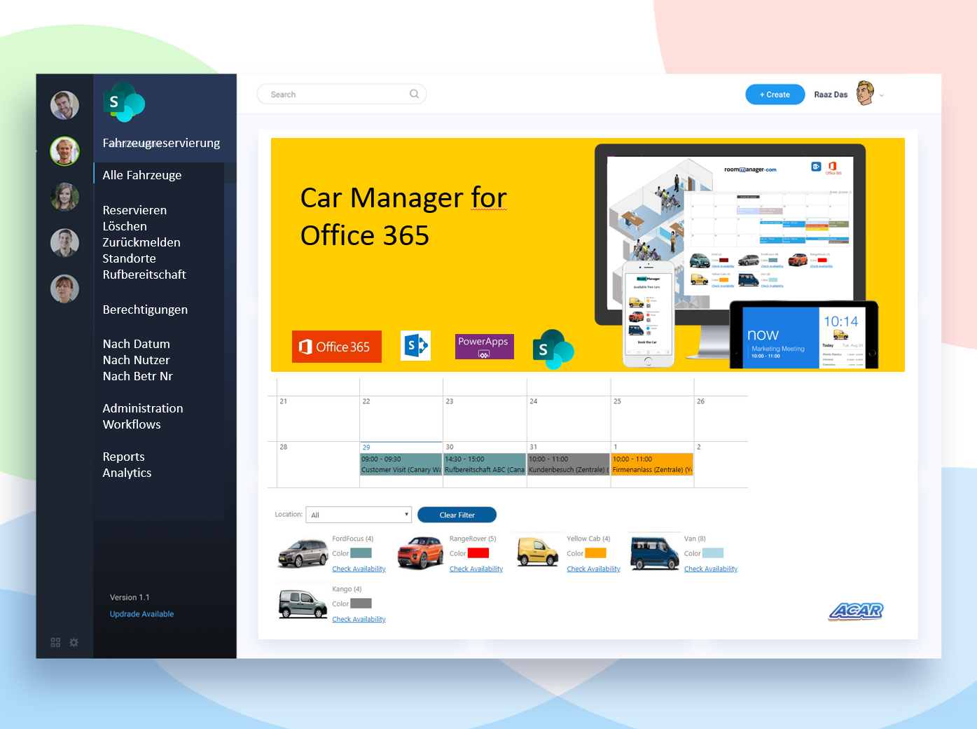 Car Manager for O365