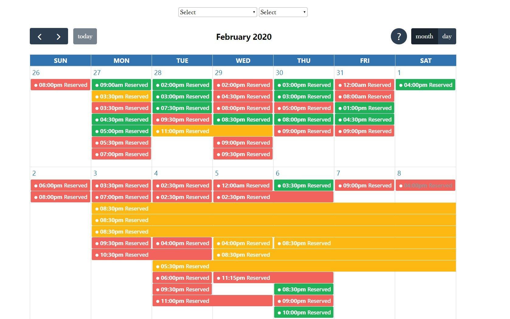 KDL WordPress calendar