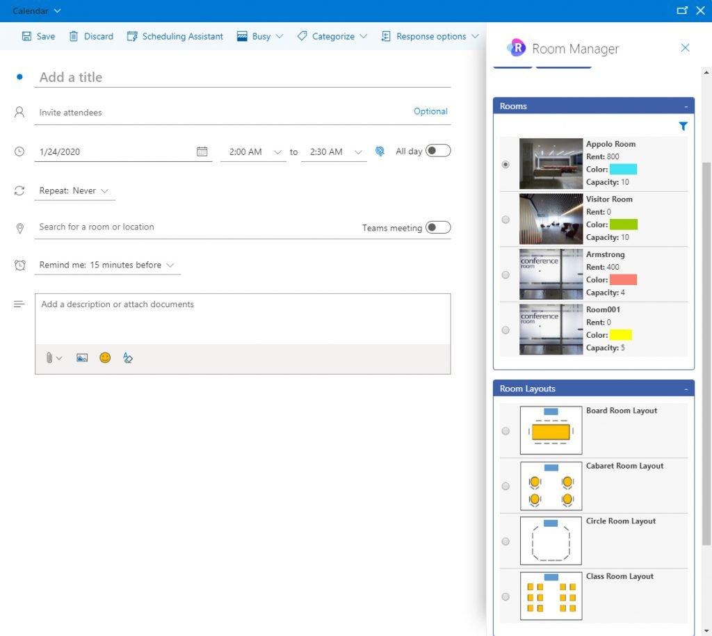 OAI in Outlook Office 365 calendar