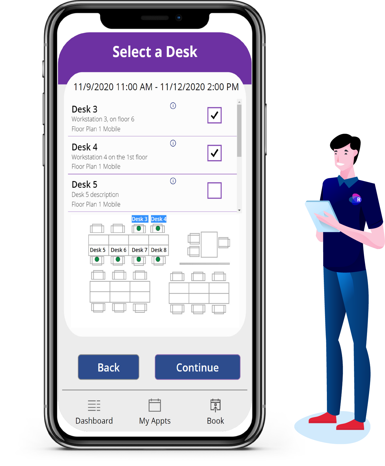 Desk Booking Room Manager App