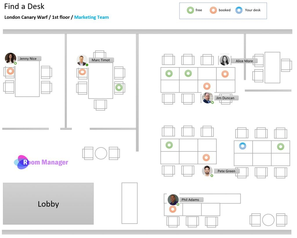 Plan Interactive Desk Management Search people